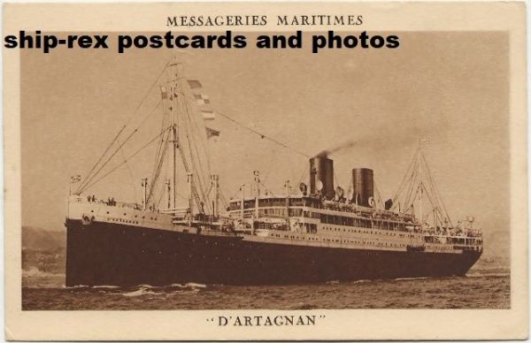 D'ARTAGNAN (Messageries Maritimes) postcard